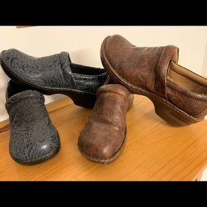 2pair BOC leather shoes. 1 navy pair 1 brown